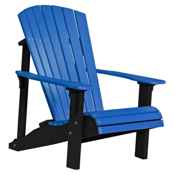 Deluxe Adirondack Chair - Blue & Black