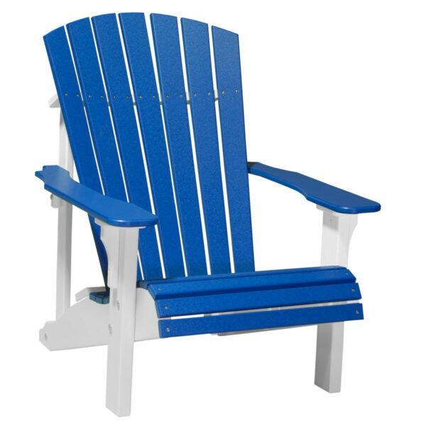 Deluxe Adirondack Chair - Blue & White