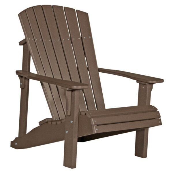 Deluxe Adirondack Chair - Chestnut Brown