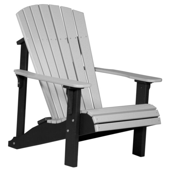 Deluxe Adirondack Chair - Dove Gray & Black