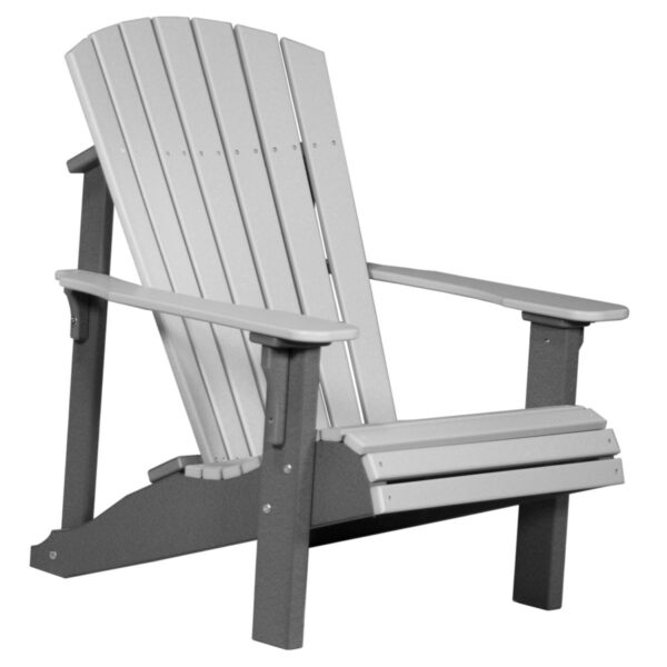 Deluxe Adirondack Chair - Dove Gray & Slate