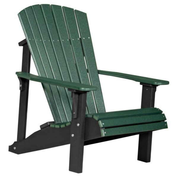 Deluxe Adirondack Chair - Green & Black