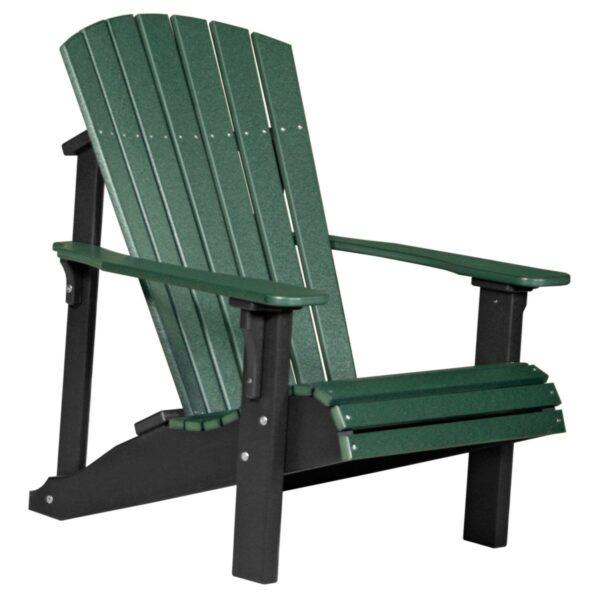 Deluxe Adirondack Chair - Green & Black
