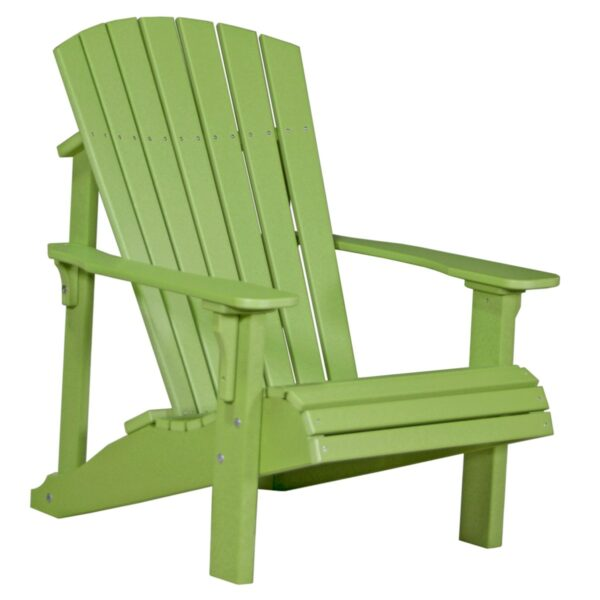 Deluxe Adirondack Chair - Lime Green