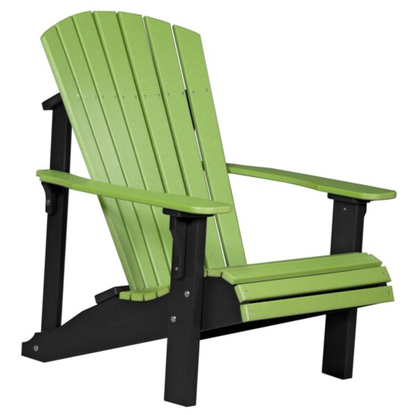 Deluxe Adirondack Chair - Lime Green & Black