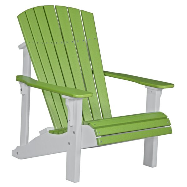 Deluxe Adirondack Chair - Lime Green & White