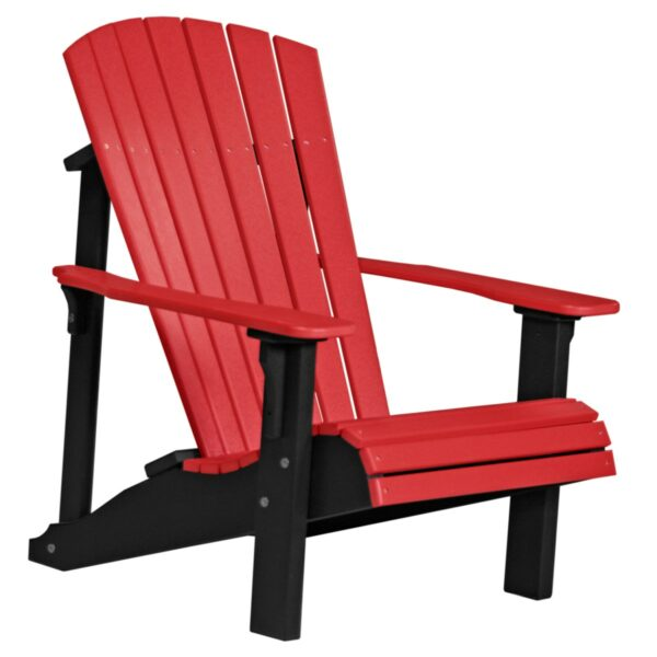 Deluxe Adirondack Chair - Red & Black