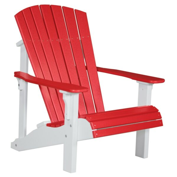 Deluxe Adirondack Chair - Red & White