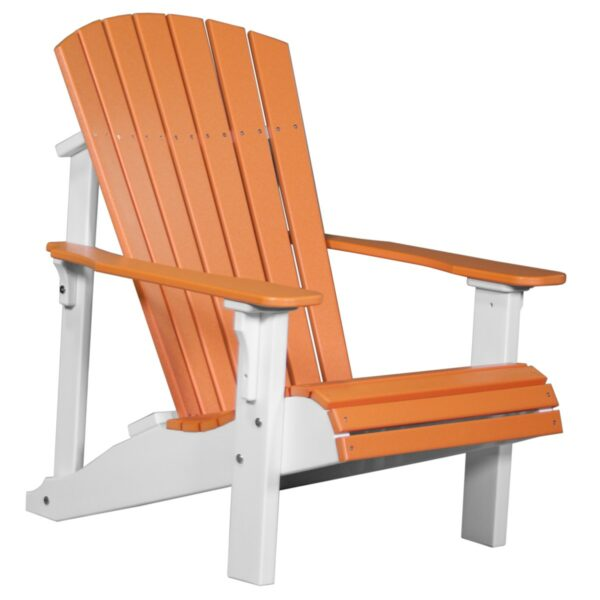 Deluxe Adirondack Chair - Tangerine & White