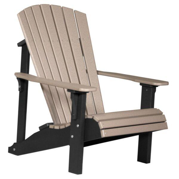 Deluxe Adirondack Chair - Weatherwood & Black