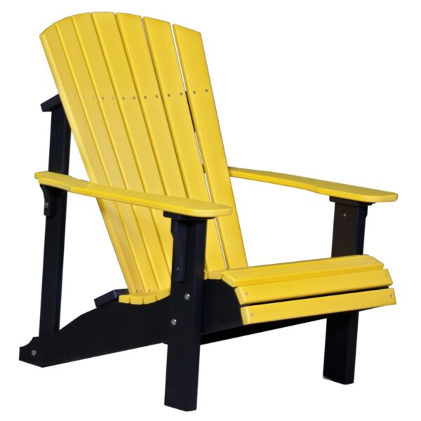 Deluxe Adirondack Chair - Yellow & Black
