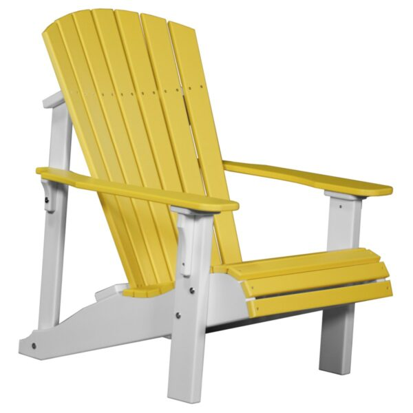 Deluxe Adirondack Chair - Yellow & White