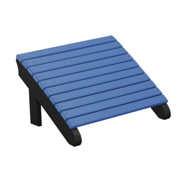 Deluxe Adirondack Footrest - Blue & Black