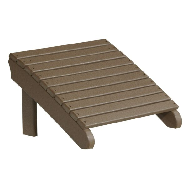 Deluxe Adirondack Footrest - Chestnut Brown
