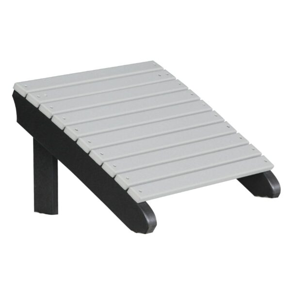 Deluxe Adirondack Footrest - Dove Gray & Black