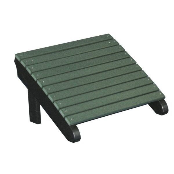 Deluxe Adirondack Footrest - Green & Black