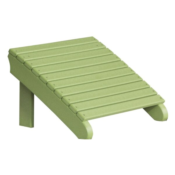 Deluxe Adirondack Footrest - Lime Green