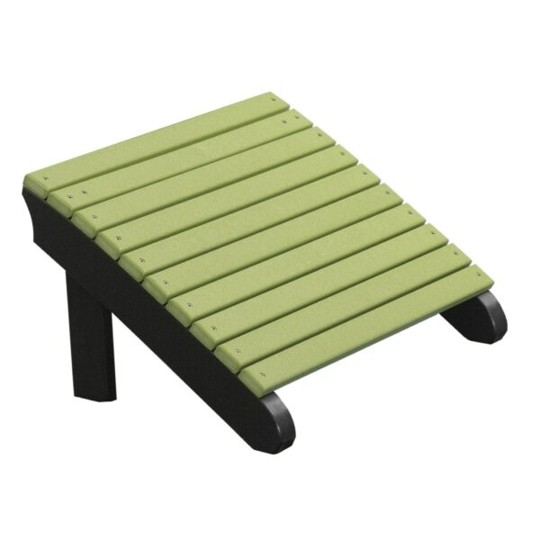 Deluxe Adirondack Footrest - Lime Green & Black