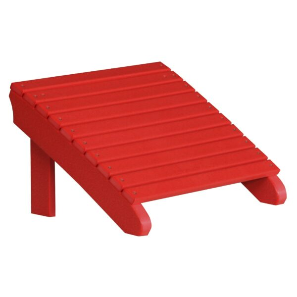 Deluxe Adirondack Footrest - Red