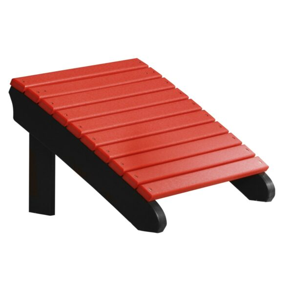 Deluxe Adirondack Footrest - Red & Black