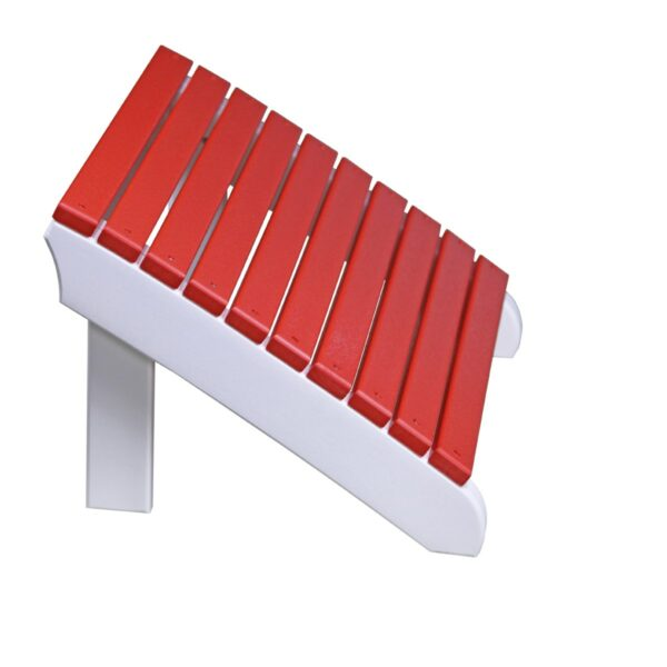Deluxe Adirondack Footrest - Red & White