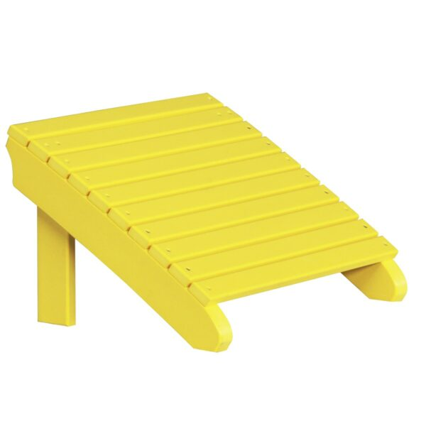 Deluxe Adirondack Footrest - Yellow