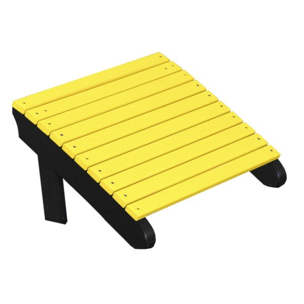 Deluxe Adirondack Footrest - Yellow & Black