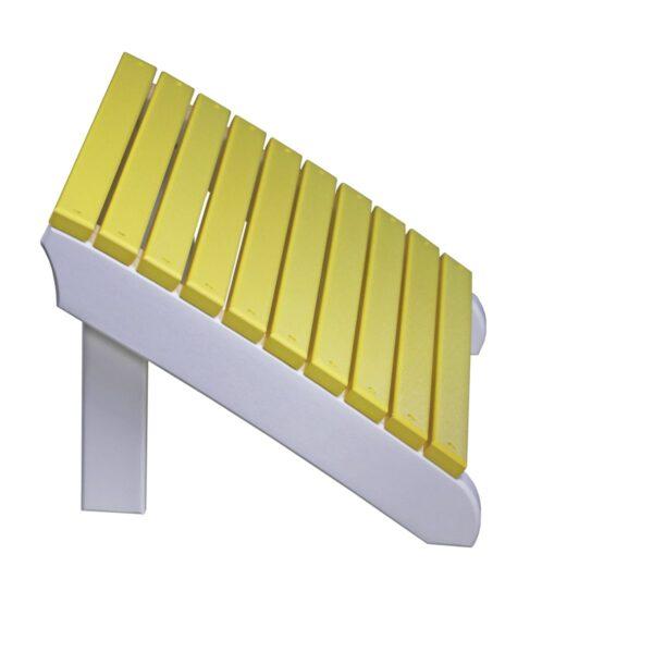 Deluxe Adirondack Footrest - Yellow & White