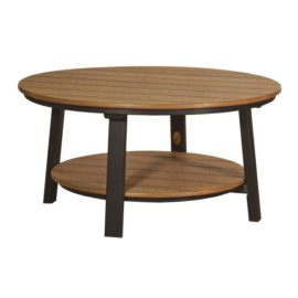 Deluxe Conversation Table - Antique Mahogany & Black