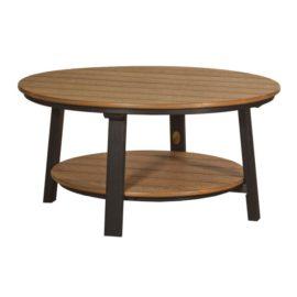 Deluxe Conversation Table - Antique Mahogany & Black