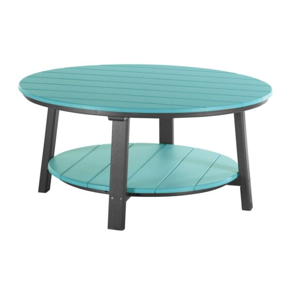 Deluxe Conversation Table - Aruba Blue & Black