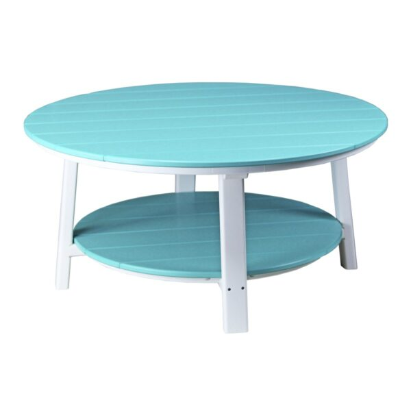 Deluxe Conversation Table - Aruba Blue & White