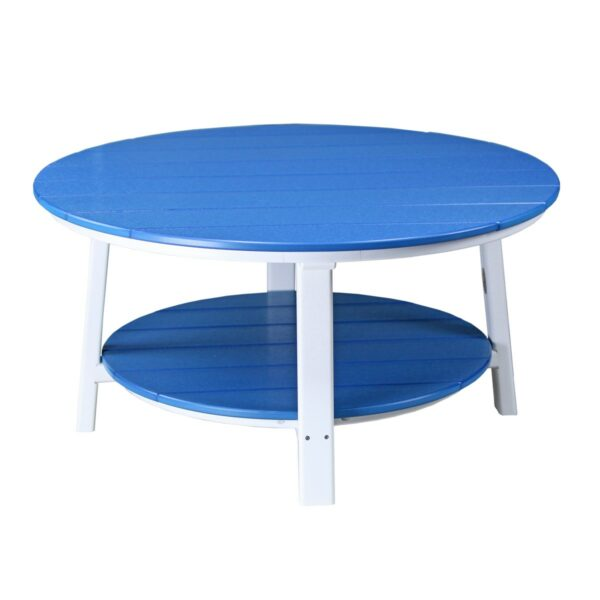 Deluxe Conversation Table - Blue & White