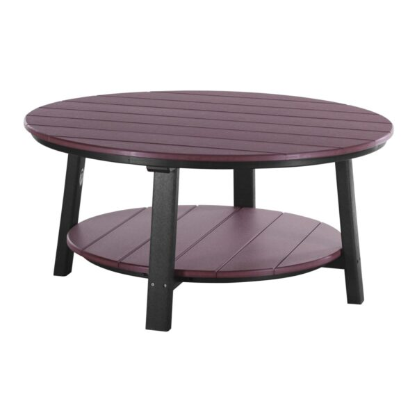 Deluxe Conversation Table - Cherry & Black