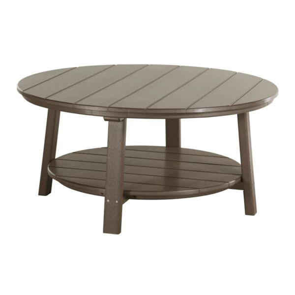 Deluxe Conversation Table - Chestnut Brown