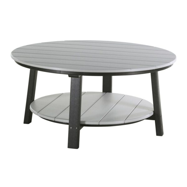 Deluxe Conversation Table - Dove Gray & Black