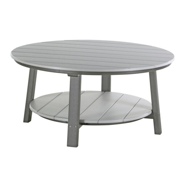 Deluxe Conversation Table - Dove Gray & Slate