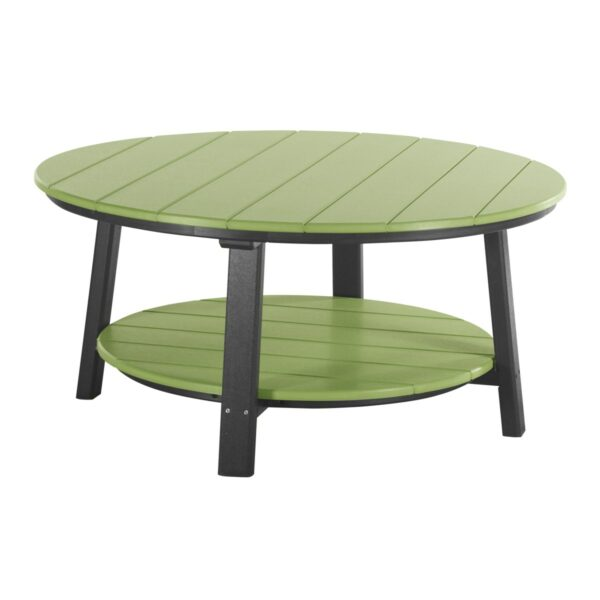 Deluxe Conversation Table - Lime Green & Black