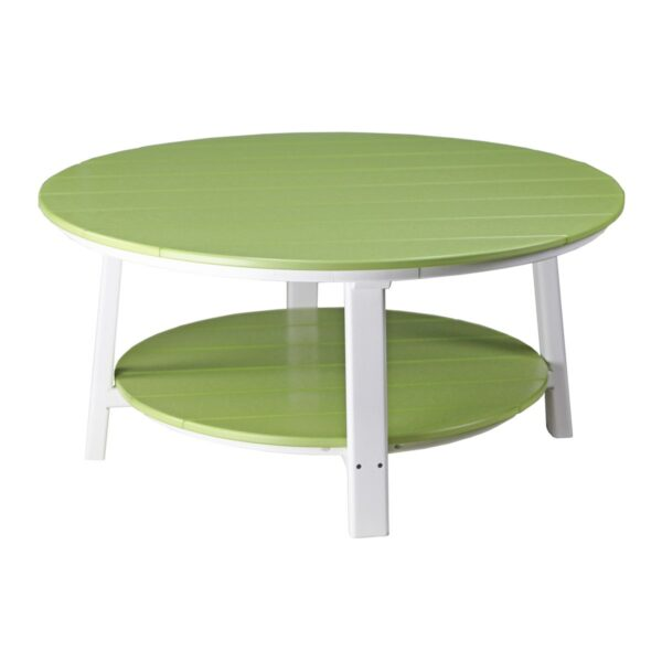 Deluxe Conversation Table - Lime Green & White