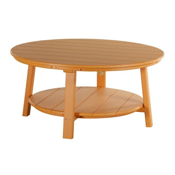 Deluxe Conversation Table - Tangerine