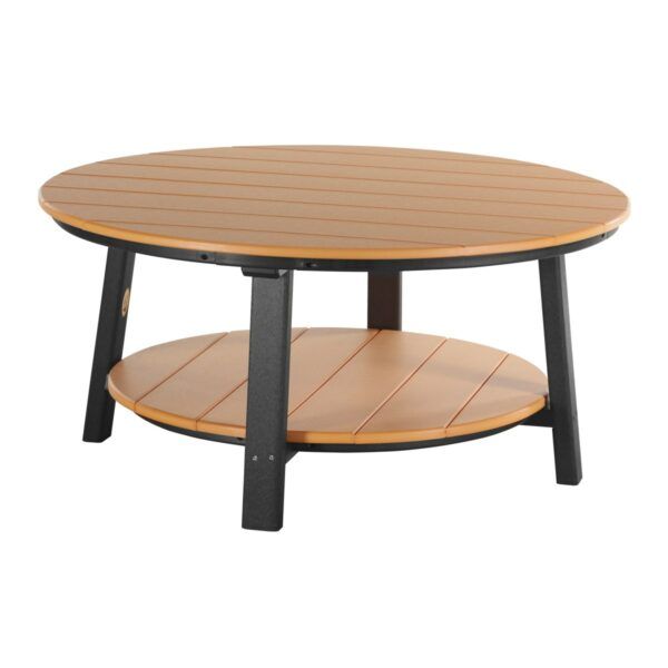 Deluxe Conversation Table - Tangerine & Black