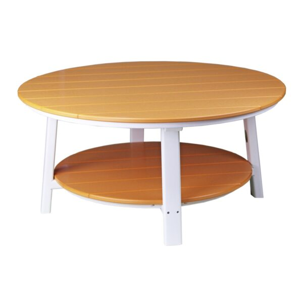 Deluxe Conversation Table - Tangerine & White