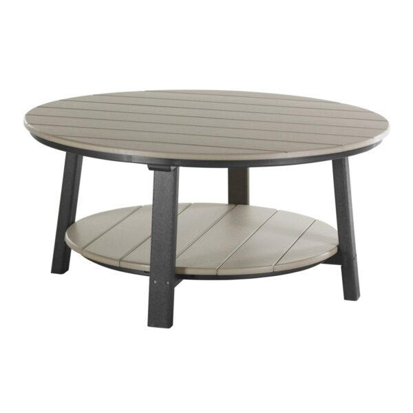 Deluxe Conversation Table - Weatherwood & Black