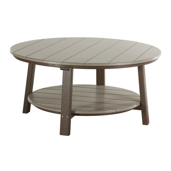 Deluxe Conversation Table - Weatherwood & Brown