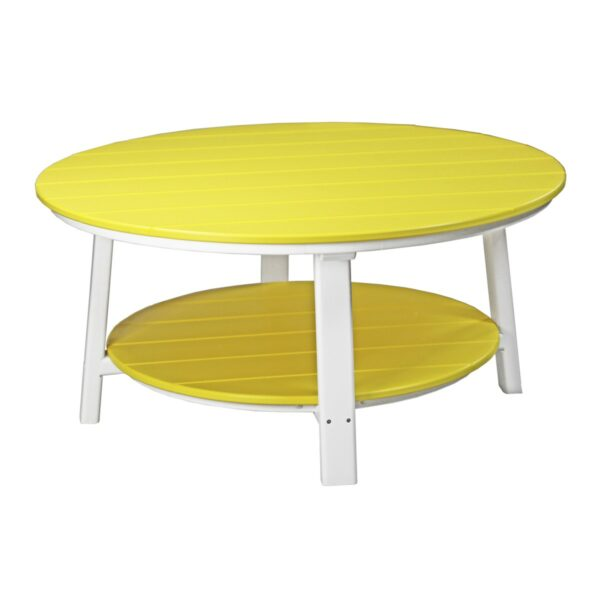 Deluxe Conversation Table - Yellow & White