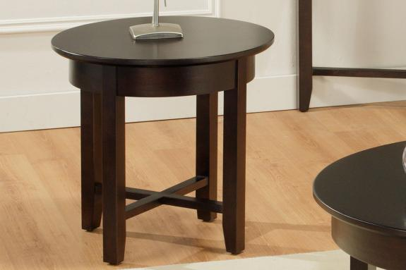 Demi-Lune Round End Table