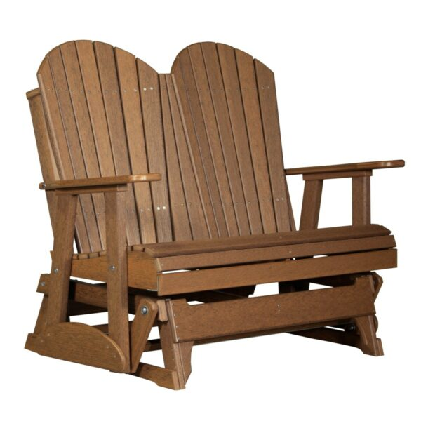 Double Adirondack Glider - Antique Mahogany