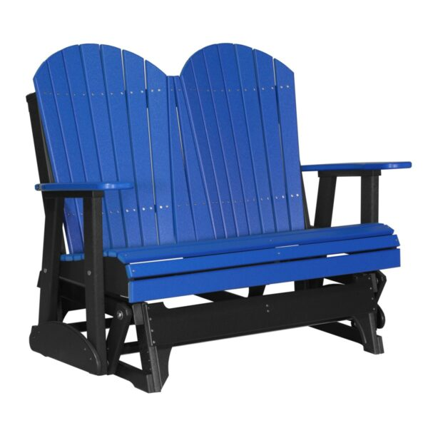 Double Adirondack Glider - Blue & Black