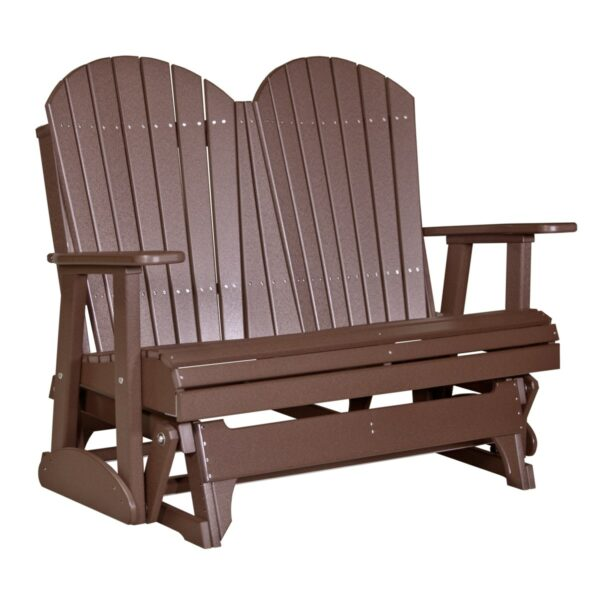 Double Adirondack Glider - Chestnut Brown