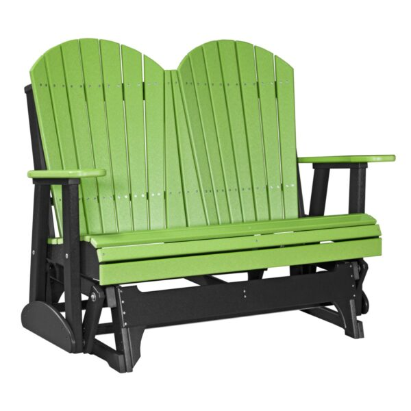Double Adirondack Glider - Lime Green & Black